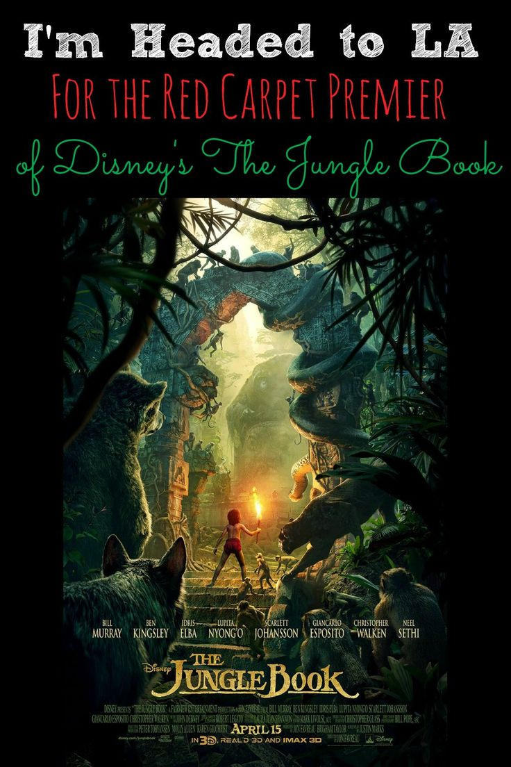"""I'm Headed to LA For the Red Carpet Premier of Disney's The Jungle Book -Because walking the Red Carpet for The Jungle Book, Interviewing Director Jon Favreau, and Neel Sethi (Mowgli) wasn't enough! We found out last night we will also be interviewing Sir Ben Kingsley (voice of """"Bagheera""""), Lupita Nyong'o (voice of """"Raksha""""), and Giancarlo Esposito (voice of """"Akela"""") - abccreativelearning.com"""