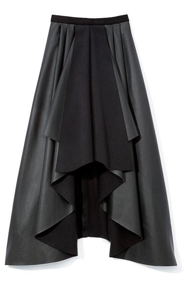 Rodarte Black Pleather Skirt