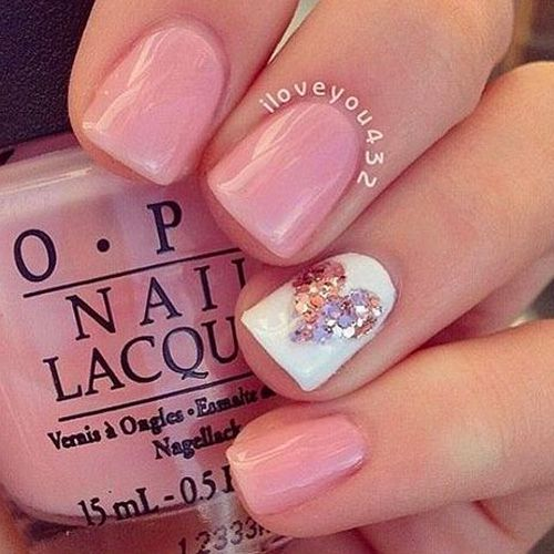 Best 25 baby girl nails ideas on pinterest pink shellac nails 12 valentines nail designs for heavy romance prinsesfo Images