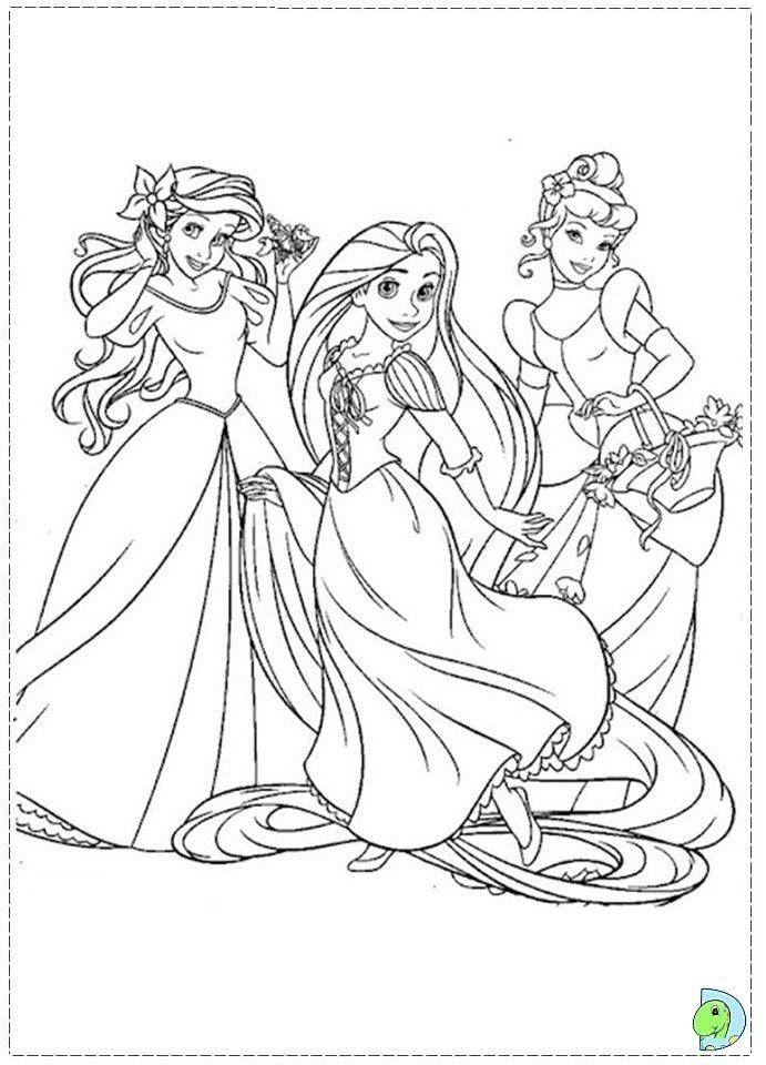 Раскраска с принцессами дисней онлайн