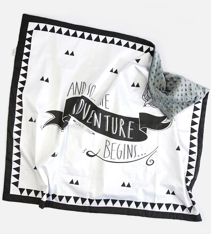 Adventure Begins Baby Blanket by Designed by Artists  on Scoutmob Shoppe