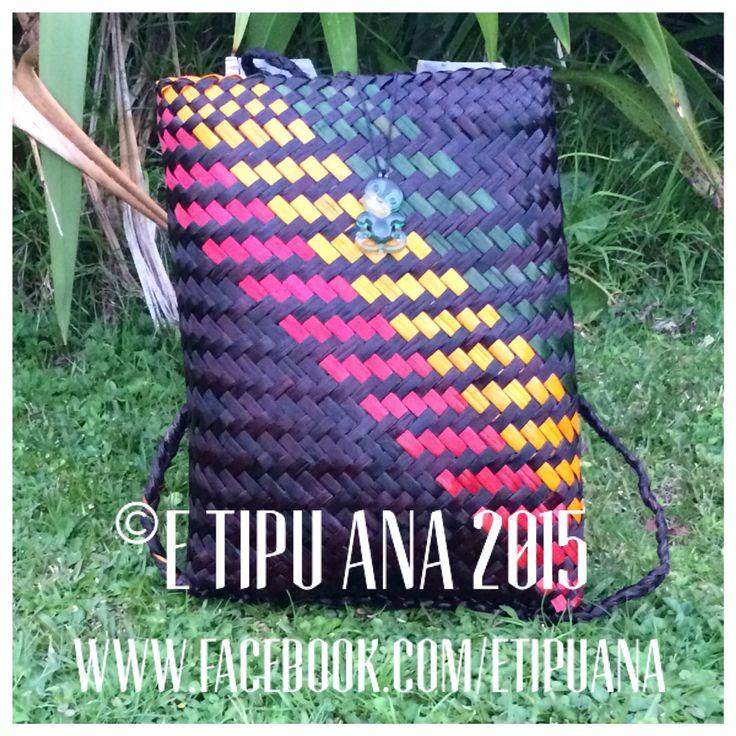 #etipuana_pikau Large rasta pikau Hand woven by julz and em @ E Tipu Ana out of New Zealand harakeke (flax)