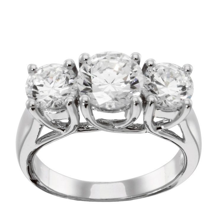 14K White Gold 0.76 ct Round Brilliant Cut Lab Created Engagement Ring $925