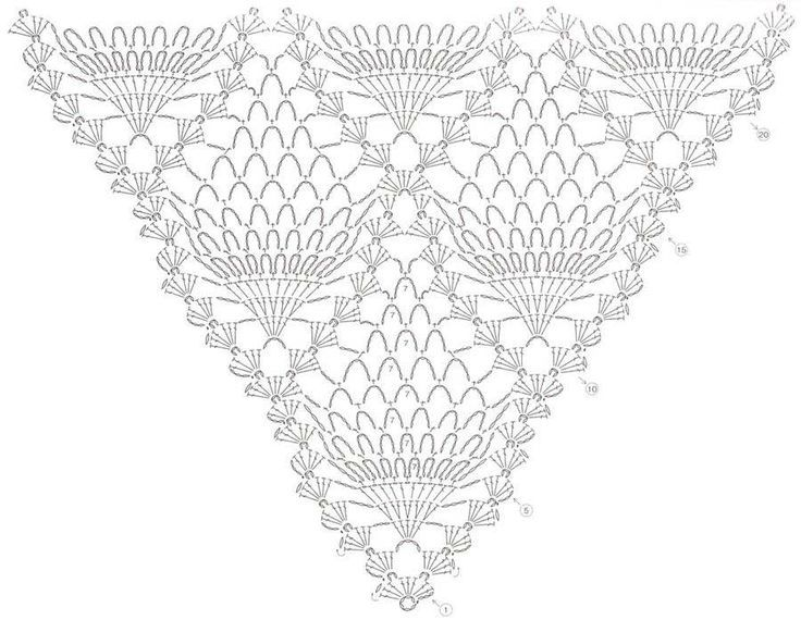 Вязание крючком шали схемы картинки