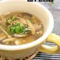 オイスターソースでコクある☆きのこスープ