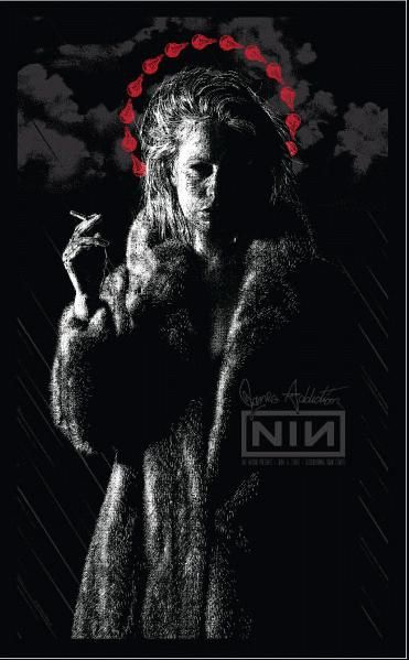 Original silkscreen concert poster for Nine Inch Nails / Jane's Addiction in Camden 2009. 14.5 X 23.5 inches. 3 color silkscreen print. Sign...