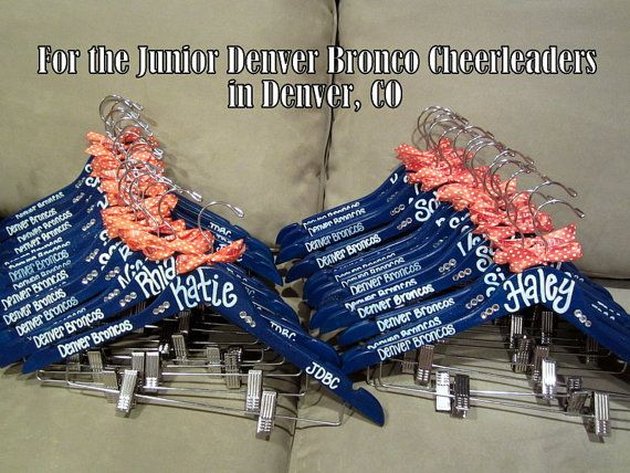 custom painted hangers for CHEERLEADERS, dance teams, pom squads, and drill teams