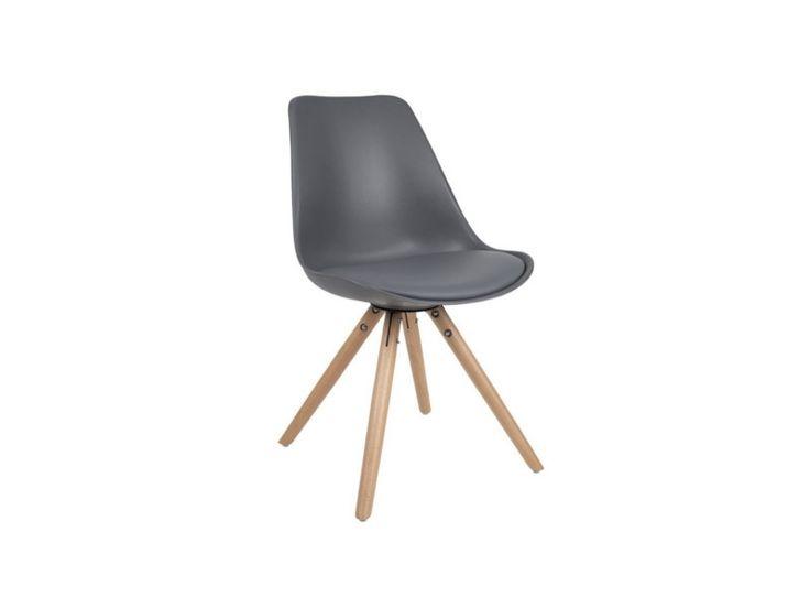 Moderne grijze stoel van Zuiver te gebruiken voor aan de eettafel of bureau.