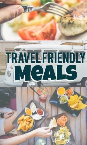 Here are 9 recipes that do not need refrigeration.  These make for great travel or moving day recipes.  This list also includes a list of items you may need along the way as well. | On the Road