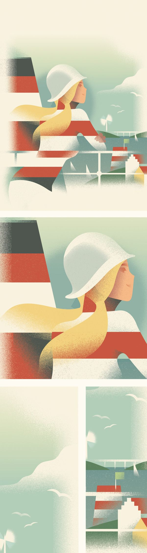 Monocle survey cover in Art Deco Posters by Mads Berg