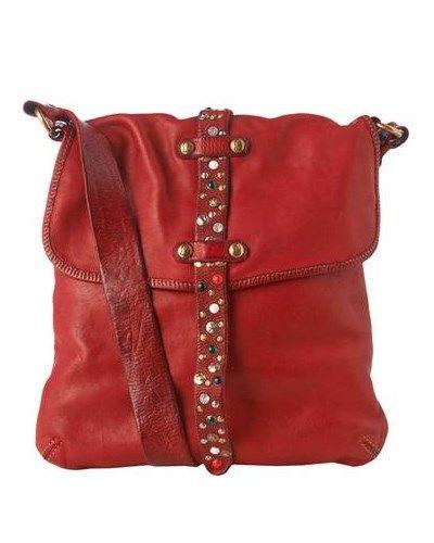 CAMPOMAGGI Leder-Tasche Bandoliera Damen Rot uni