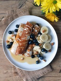 Cottage Cheese Crepes - low calorie and high protein breakfast recipe ready in under ten minutes!