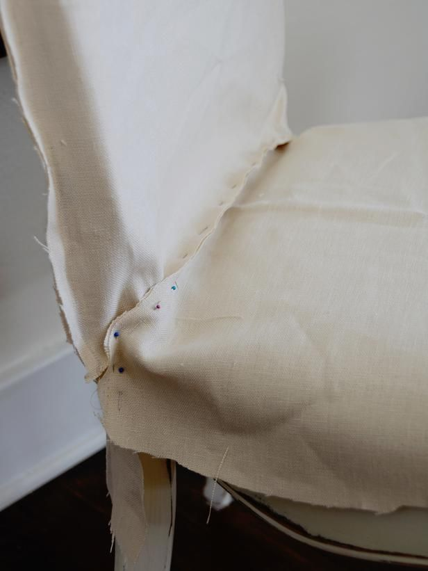 How to Make a Custom Dining Chair Slipcover : Decorating : Home & Garden Television