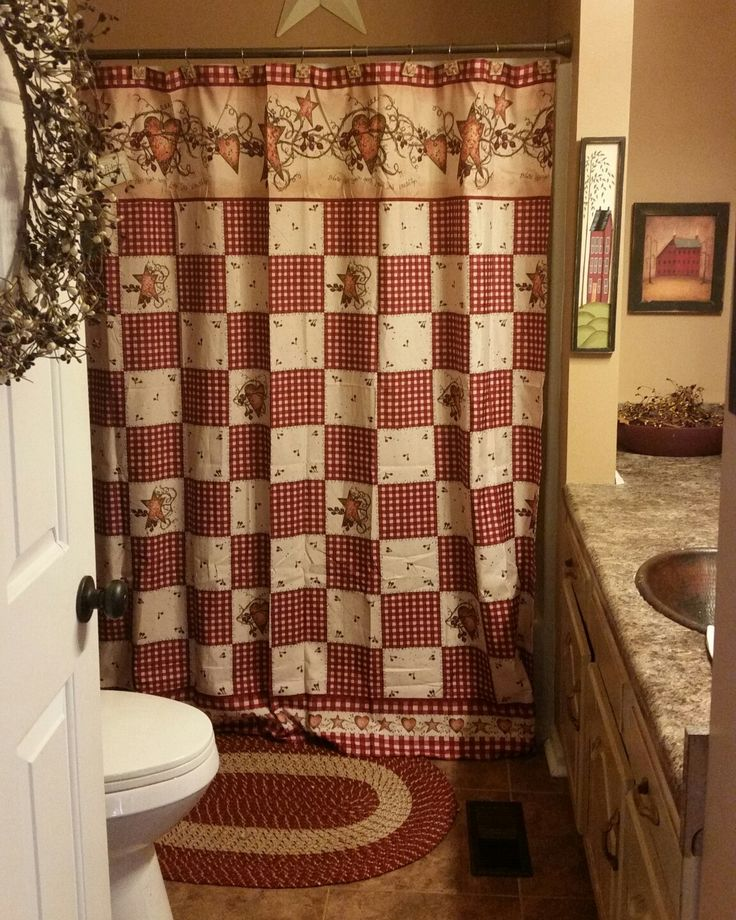 Best Primitive Country Bathrooms Ideas On Pinterest - Country shower curtains for the bathroom for bathroom decor ideas