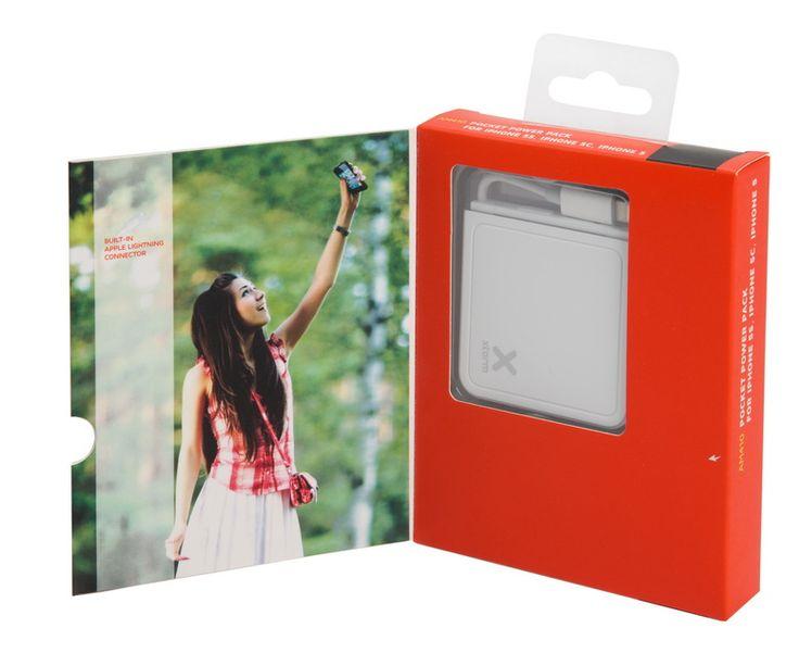 Pocket Power Bank for iPhone 5/ 5S/ 5C - zewnętrzny akumulator o pojemności 1500 mAh, którymożna doładować przez port USB. Urządzenie wyposażone jest w złącze Lightning.  / The Pocket Power Bank 1500 for iPhone 5 / 5C / 5S or iPod with lightning connector is a compact backup battery. Designed in an attractive white casing.  PLN149.99 / $50
