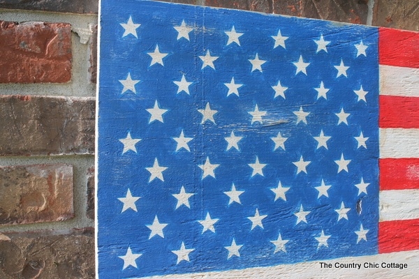 American Flag Decor -- Pottery Barn Knock Off ~ * THE COUNTRY CHIC COTTAGE (DIY, Home Decor, Crafts, Farmhouse)