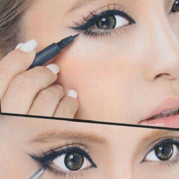 .Eye Makeup, Cat Eye, Wings Eyeliner, Wings Liner, Beautiful, Cateye, Makeup Ideas, Eyemakeup, Eye Liner