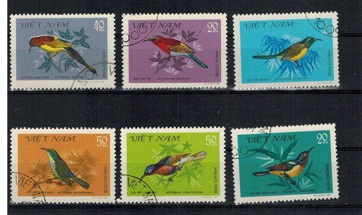 Fåglar på frimärken från Vietnam