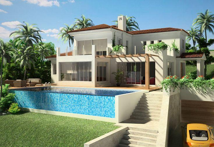 Villa Design 67 757×520 pixels   caribbean villa design   pinterest   villa