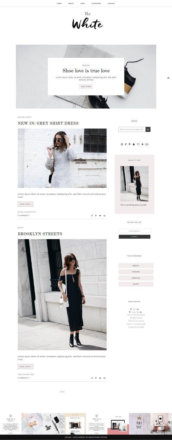 Blogger Template with Post Slider / Responsive Blog Theme /
