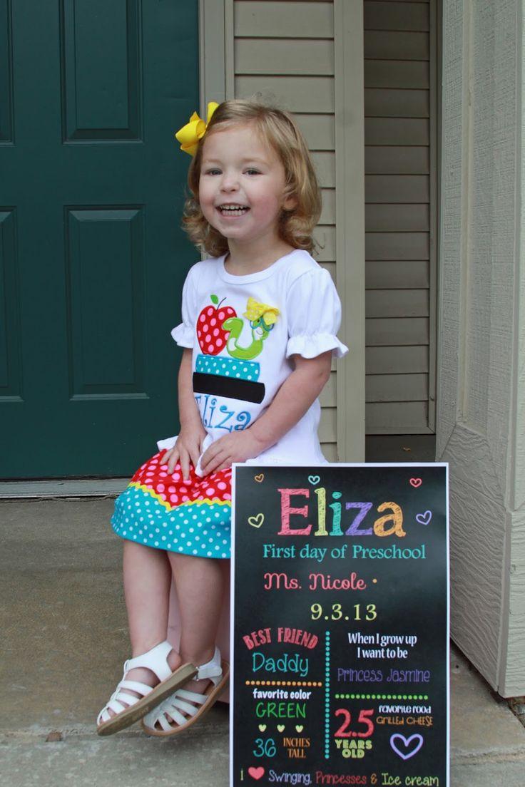 kindergarten girl side I will survive! First day of preschool custom sign custom outfit. My big girl