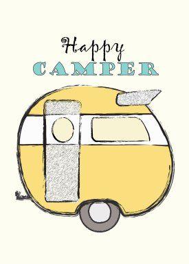 Cute FREE Happy Camper Printable. MrsPadillysTravels.com