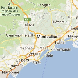 Carte de Montpellier