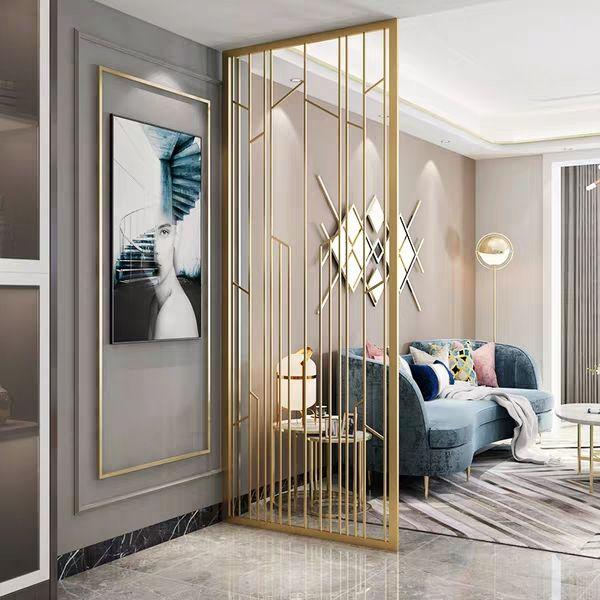 Stainless Steel Art Screen Luxury Living Room Design Living Room Design Decor Living Room Partition Design