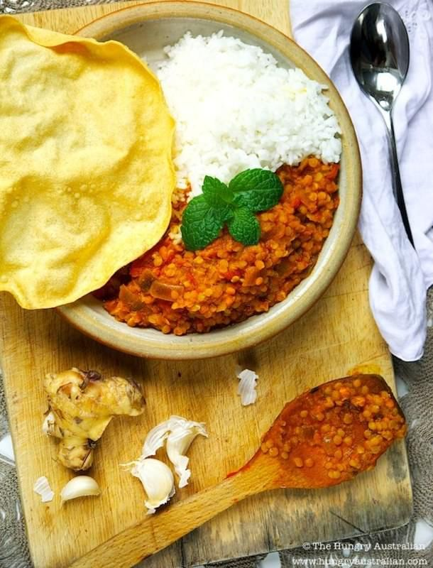 Red Lentil Dahl for a Rainy Day (The Hungry Australian)