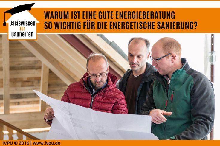 Mehr Komfort, weniger Energieverbrauch und dauerhafter Werterhalt - das sind wichtige Gründe, die für die energetische Sanierung eines Gebäudes sprechen. Das Ziel jeder unabhängigen Energieberatung sollte sein, die optimale Sanierungslösung für das Gebäude zu finden und dabei auch die Wünsche und Ziele des Hausbesitzers zu berücksichtigen. Bauen, Energiewende, Sanieren, Renovieren, Dämmung, Dach, EnEV, PU, Dämmstoffe, Energieeffizienz, Energieberater, Bauphysik, Wärmedämmung, IVPU, PUonline