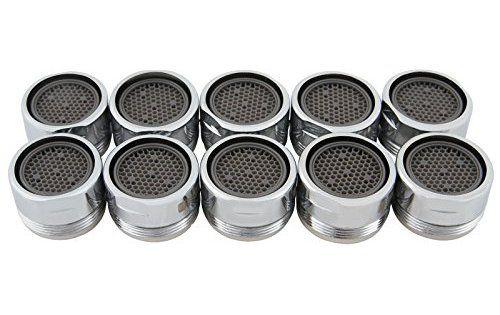 Aquamarin – Mousseur aérateur pour robinet en set de 10 – 2 TAILLES AU CHOIX: Taille 1 : Ø/H : env. 2,4/1,6 cm chacun * Taille 2 : Ø/H :…