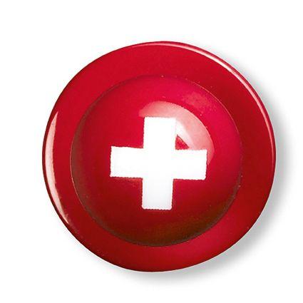 Boutons dessin drapeau suisse