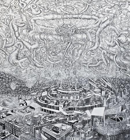 Viktor Rosdahl - Arrival of the New Deal, 200 x 180 cm