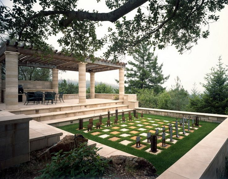 Cool Outdoor Patio Chess Game Set