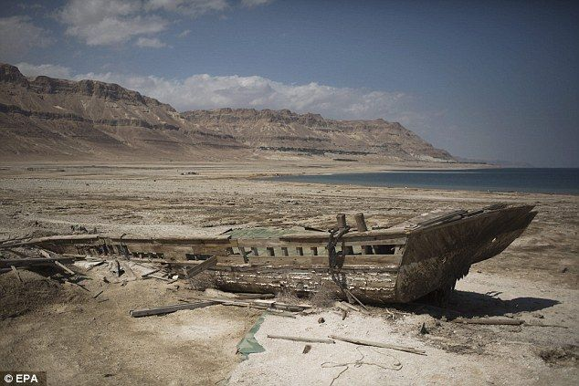 It is estimated that the Dead Sea's water level has dropped by more than 131ft (40 metres)...