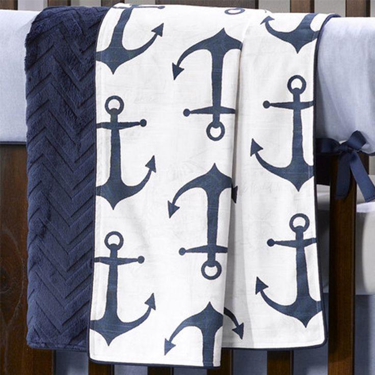 Nautical Anchors Baby Blanket