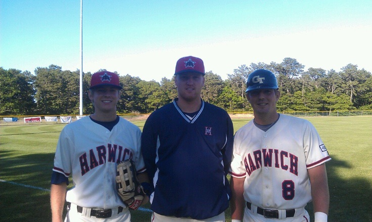 Georgia Tech Baseball players who are playing for the Harwich Mariners in the Cape Cod League — Sam Dove, Cole Pitts and Zane EvansCod Baseball, Cole Pitt, Cod League, Sam Dove, Georgia Tech, Hot Guys, Baseball Players, Capes Cod, Harwich Marines
