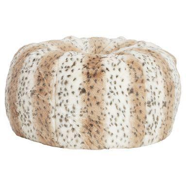 PB Teen Fluffy Snow Leapord Bean Bag