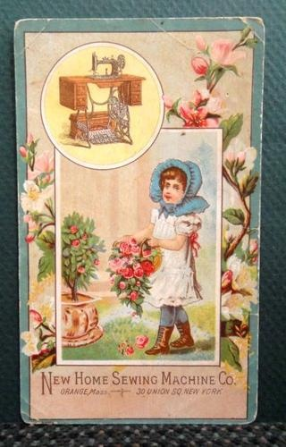 Antique Victorian Trade Card New Home Sewing Machine Co Northrup Ithaca NY | eBay