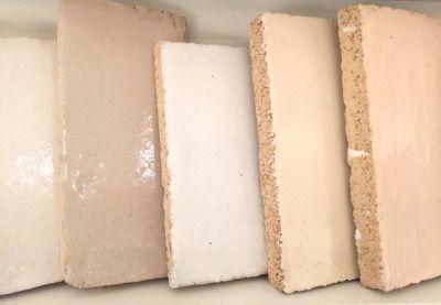 tiles, samples off-white; chamois; nude; ecru