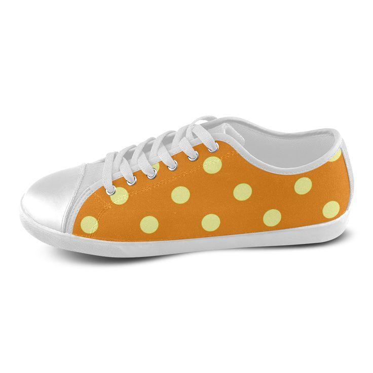 New arrival in Shop : Luxury designers fashion 2016 / Orange and Purple dots edition. Original serie Women's Canvas Shoes (Model 016).
