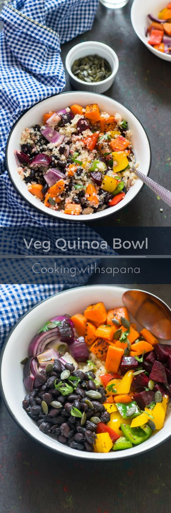 Roasted Vegetable Quinoa Bowl - CookingWithSapana