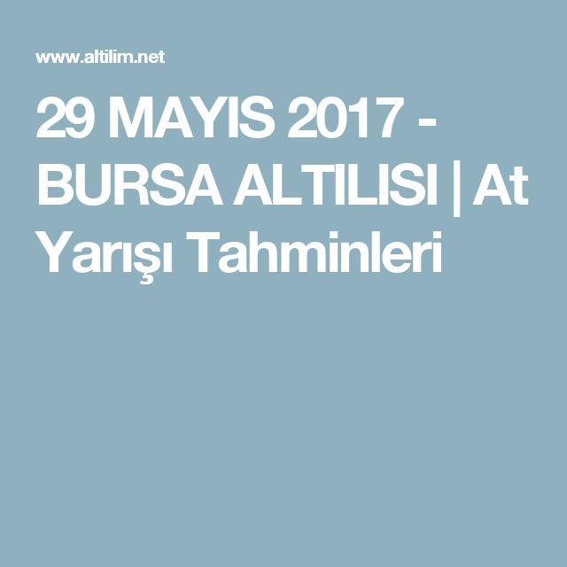 29 MAYIS 2017 - BURSA ALTILISI | At Yarışı Tahminleri