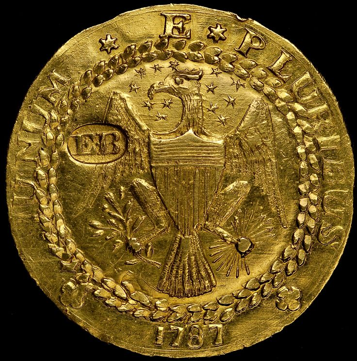 Insured for $10 million, Monaco Rare Coins will display the finest certified (NGC MS63) 1787 Brasher Doubloon at the ANA 2014 Chicago World's Fair of Money. (Photo credit: NGC.)