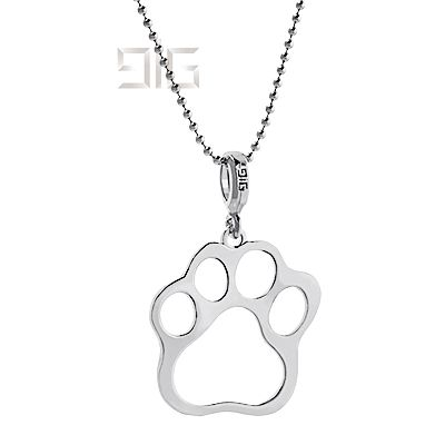 Silver pendant paw - available for order