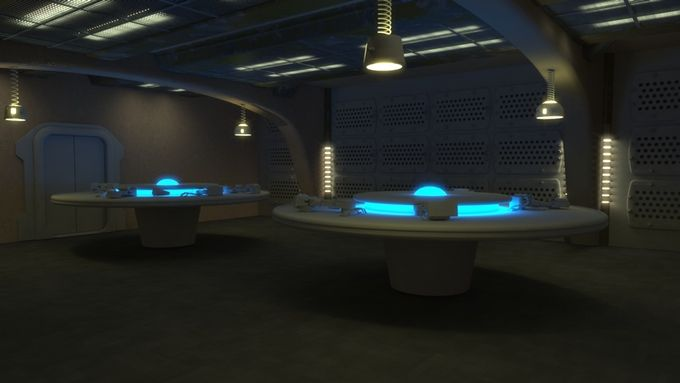 The back room of the cantina where anything is bought, sold, and traded.