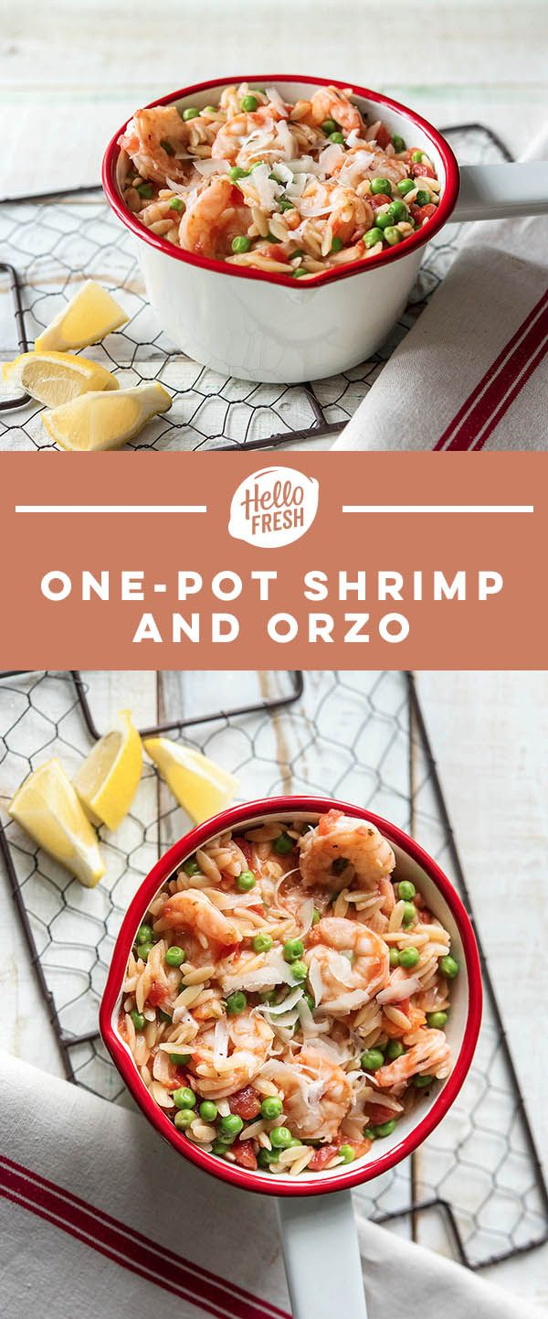 Skip the dishes and make this easy one-pot shrimp and orzo recipe ...