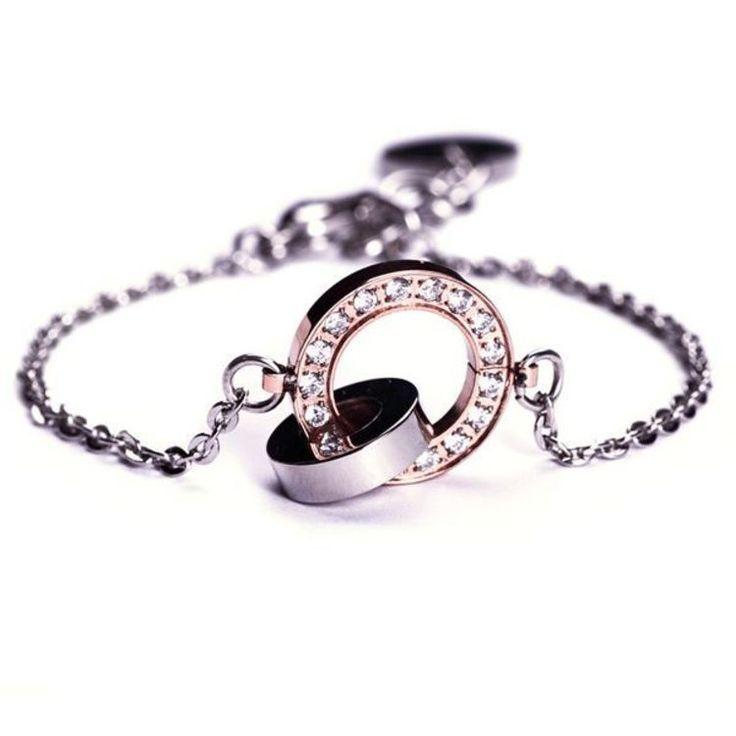 Edblad Eternity orbit thin bracelet rosegold/steel PG 3 79112
