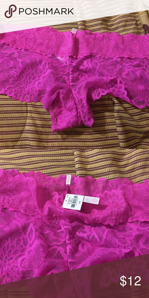 Pink  Victoria's  Secret Victoria's Secret Lace Boy Shorts(NEW WITH TAGS) Victoria's Secret Intimates & Sleepwear Panties