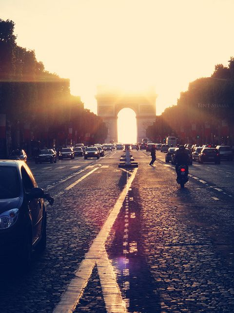 paris at golden hour